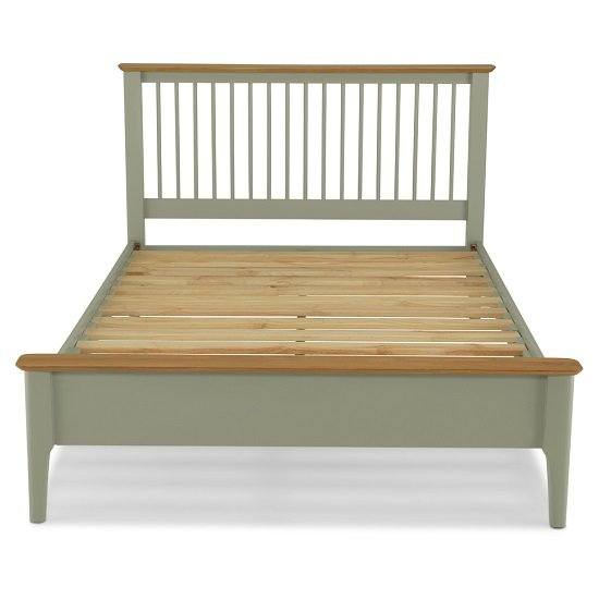Simona Wooden Double Bed In Sage Green_3