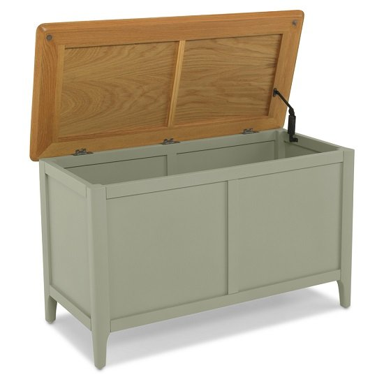 Simona Wooden Blanket Box In Sage Green_2