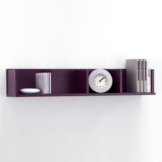 purple wall mounted display shelves point4 ebay. Black Bedroom Furniture Sets. Home Design Ideas