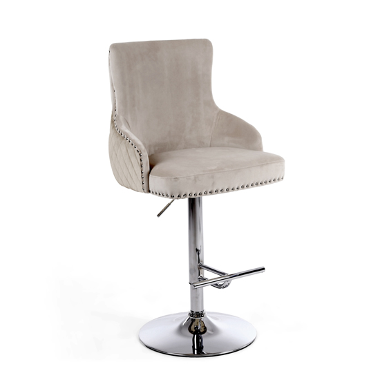 Sirocco Brushed Velvet Bar Stool In Mink