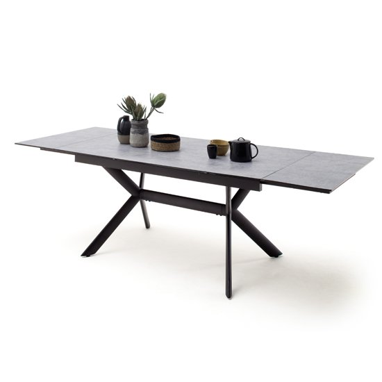 Siros Extending Glass Dining Table In Concrete Effect_1