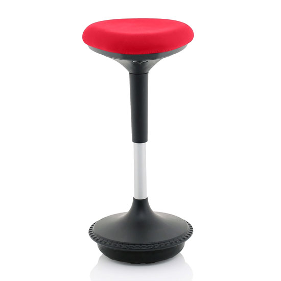 Sitall Fabric Office Visitor Stool With Bergamot Cherry Seat