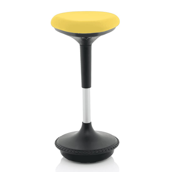 Sitall Fabric Office Visitor Stool With Mustard Seat