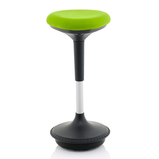 Sitall Fabric Office Visitor Stool With Myrrh Green Seat