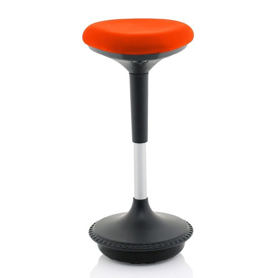 Sitall Fabric Office Visitor Stool With Tabasco Red Seat_1