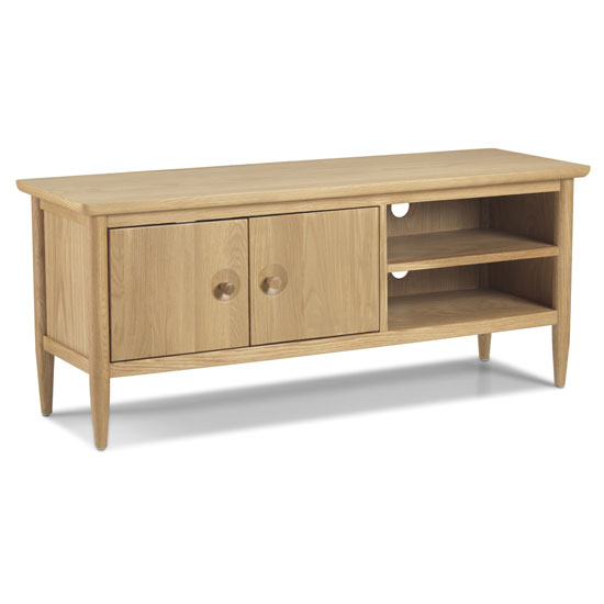 Skier Wooden TV Unit In Light Solid Oak_2
