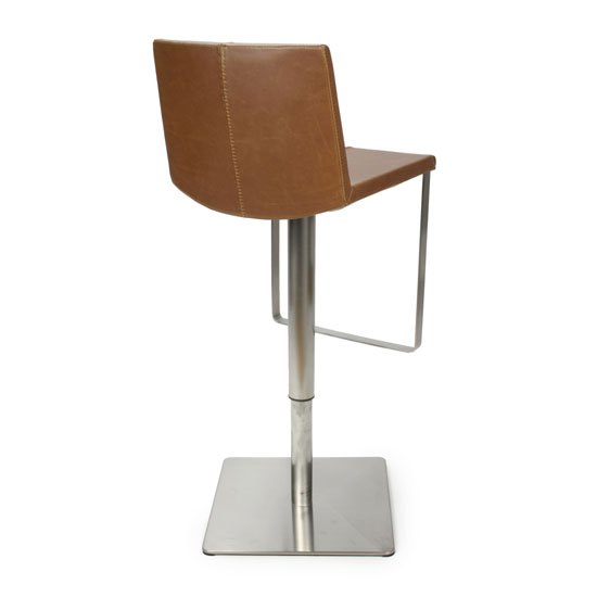 Skypod Urban Tan Bar Stool In Pair With Brushed Steel Base_2