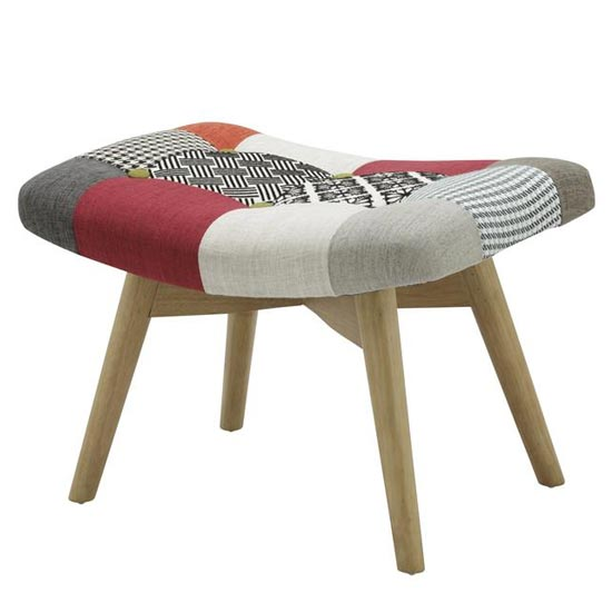 Sloane Fabric Foot Stool In Patched_2