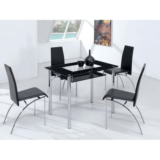 Rimini Small Dining Table With 4 D211 Dining Chairs 1807