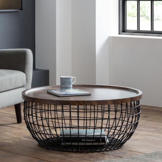 Smithson Storage Coffee Table In Walnut