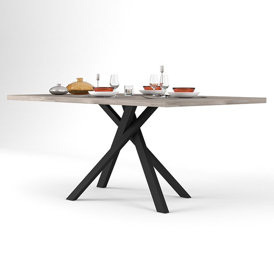 Snapp Wooden Dining Table In Natural And Black