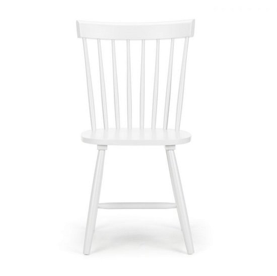 Snodland Rectangle Wooden Dining Chair In White Lacquer_2