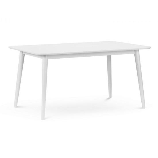 Sonwood Rectangle Wooden Dining Table In White Lacquer_1