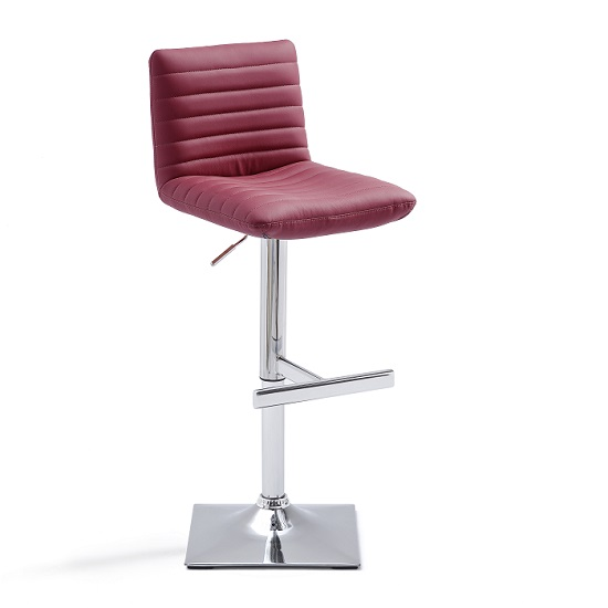 Snow Bar Stool In Bordeaux Faux Leather With Square Chrome  : snowbordeauxsquarebasebarstool461414 from furniturecompare.uk size 550 x 550 jpeg 48kB