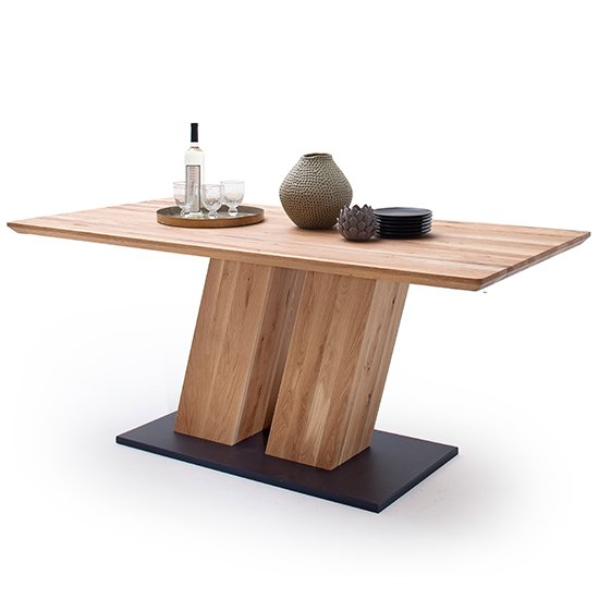 Sofia Small Wooden Swiss Edge Top Dining Table In Solid Oak