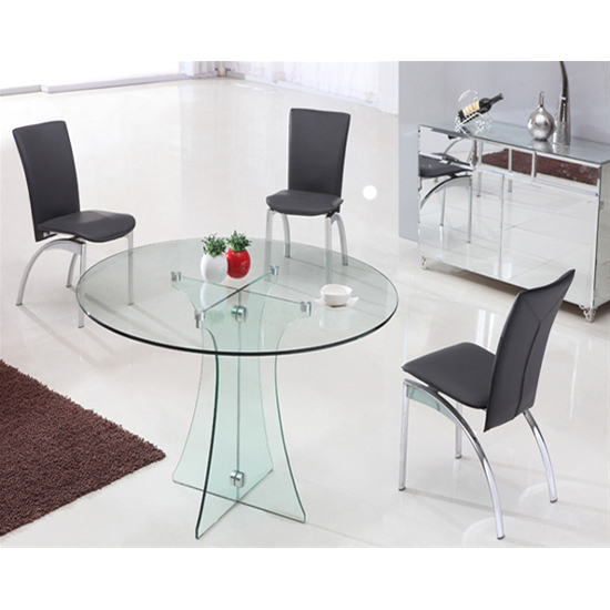 Sofia Round All Glass Dining Table And 4 G612 Chairs 17475 F : sofiaclearglassdintab834 from www.furnitureinfashion.net size 550 x 550 jpeg 163kB