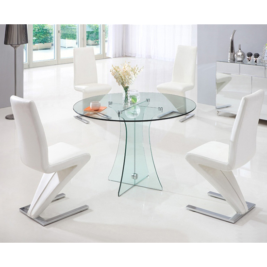 Sofia Round All Glass Dining Table And 4 G612 Chairs 17475 F : sofiaclearglassdintab834zchair from www.furnitureinfashion.net size 550 x 550 jpeg 157kB