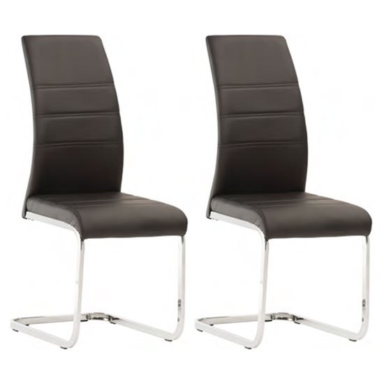Soho Black Faux Leather Dining Chair In A Pair