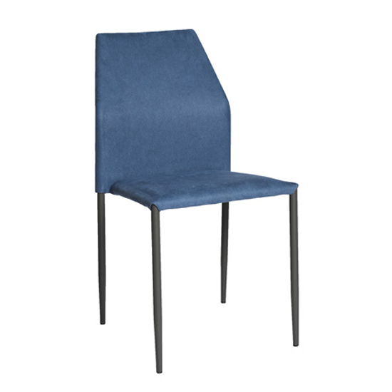 Soho Dining Set With 4 Blue Milo Stackable Chairs_3