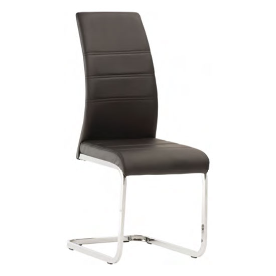 Soho Faux Leather Dining Chair In Black