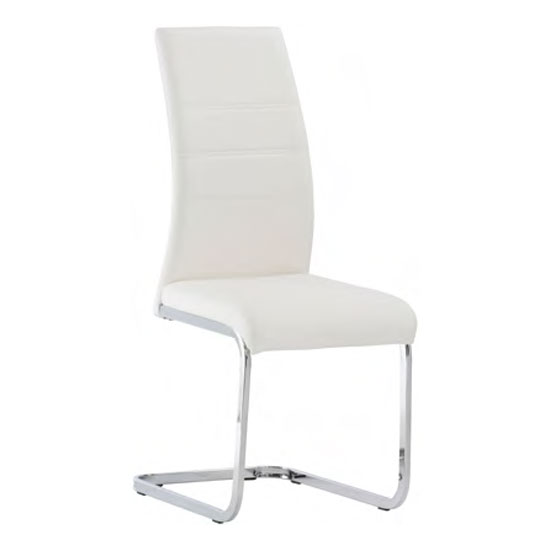 View Soho faux leather dining chair in white
