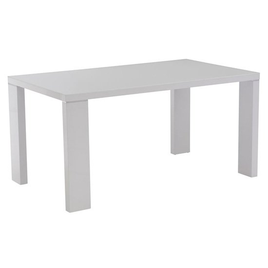 Soho Glass Top Dining Table In White High Gloss