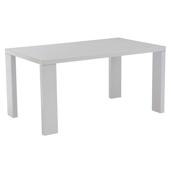 Soho Glass Top Dining Table In White High Gloss_1