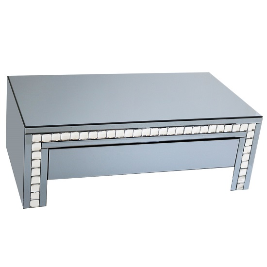 Solano Smoke Glass Coffee Table With 1 Drawer
