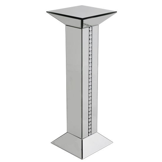 Solano Modern Mirrored Glass Tall Pedestal