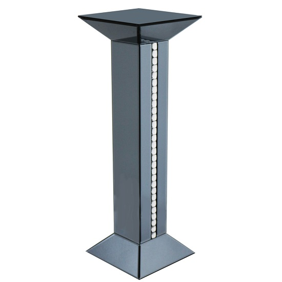 Solano Modern Smoke Glass Tall Pedestal