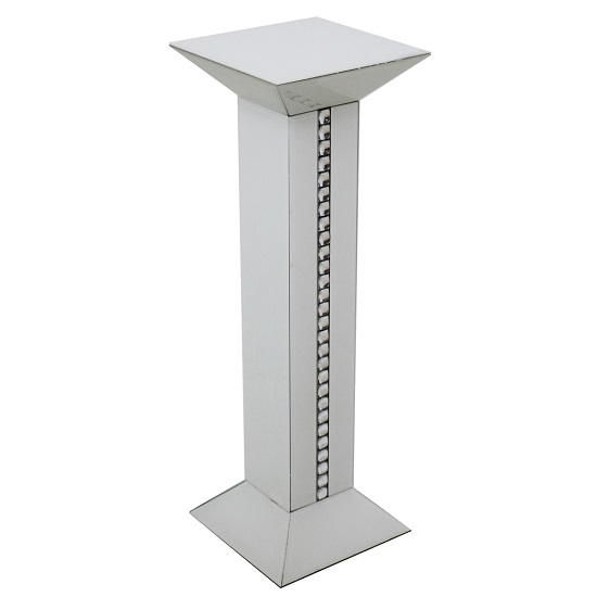 Solano Modern White Glass Tall Pedestal