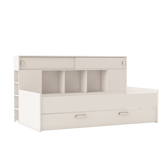 Solar Contemporary Childrens Bed In Matt White