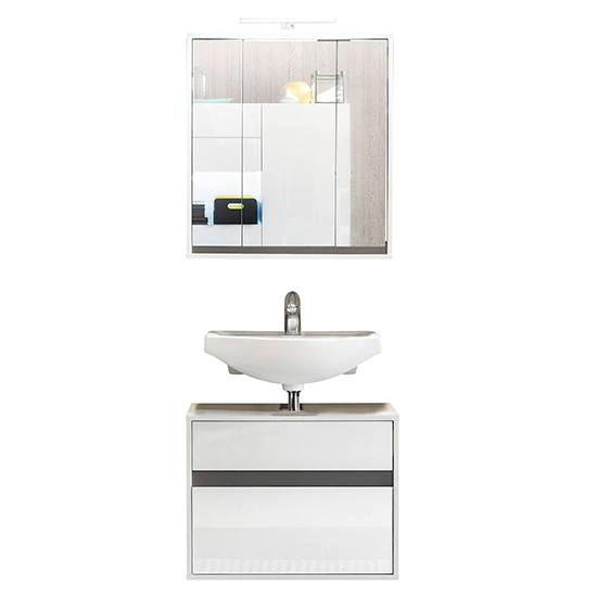 Solet LED Bathroom Furniture Set 9 In White High Gloss_3