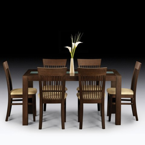 Madrid Wenge Dining Set And 6 Chairs