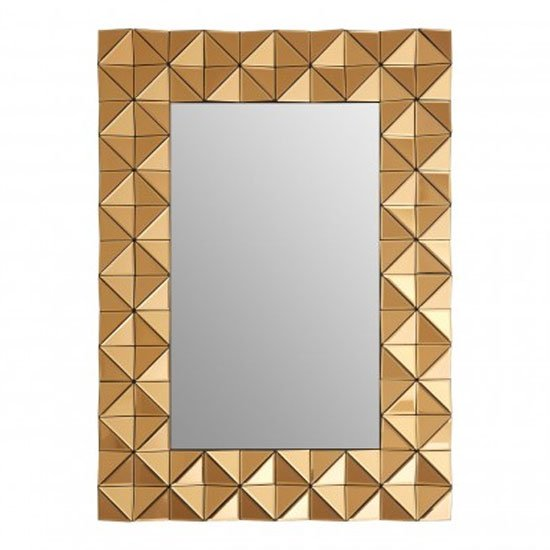 Soma Rectangular Wall Bedroom Mirror In Smoked Copper Frame