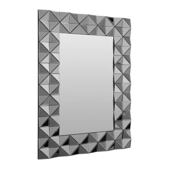 Soma Rectangular Wall Bedroom Mirror In Smoked Silver Frame_2