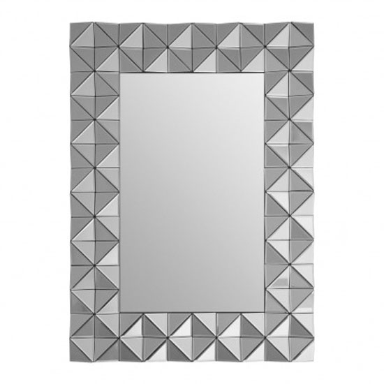 Soma Rectangular Wall Bedroom Mirror In Smoked Silver Frame_1