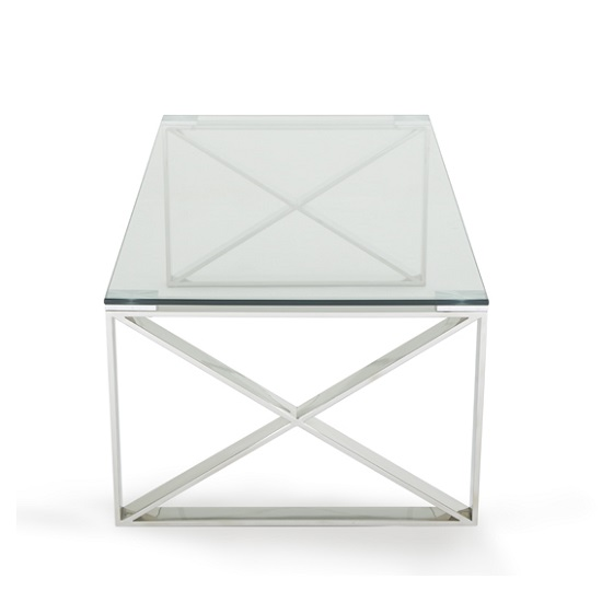 Sonata Glass Coffee Table With Polished Stainless Steel Legs_3