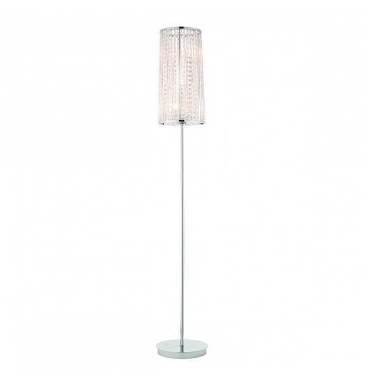 Sophia Floor Lamp With Polished Silver Metal Frame_1