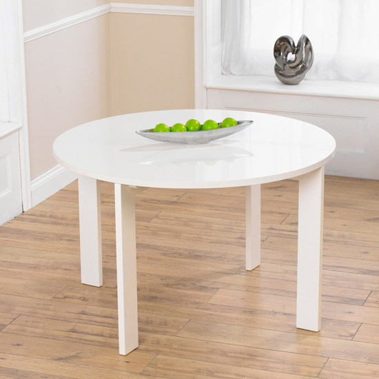 Lexus gloss white round dining table only buy modern wooden dining table furniture in fashion - Round white gloss dining table ...
