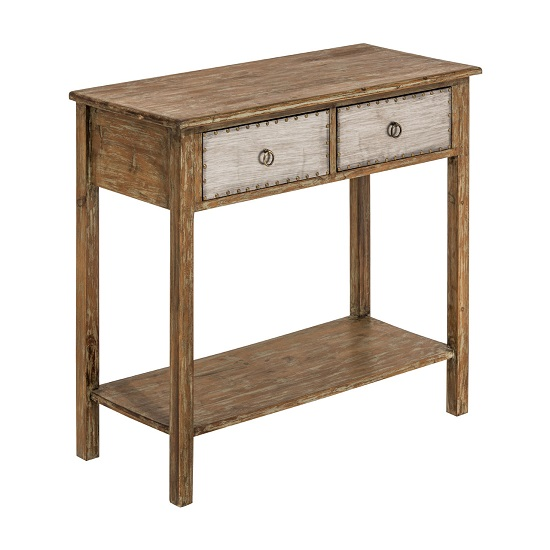 Sophia Wooden Console Table With 2 Drawers