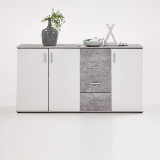 Sophia Wooden Large Sideboard In Light Atelier And White_3