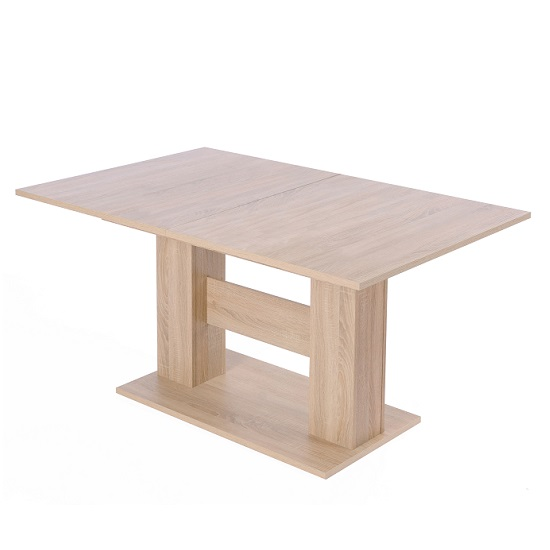 Sophia Extendable Wooden Dining Table In Sonoma Oak
