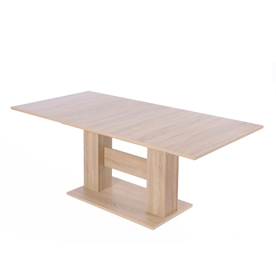 Sophia Extendable Wooden Dining Table In Sonoma Oak_2