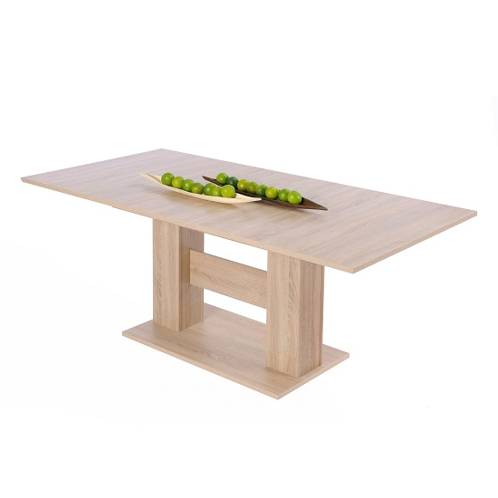Sophia Extendable Wooden Dining Table In Sonoma Oak_3