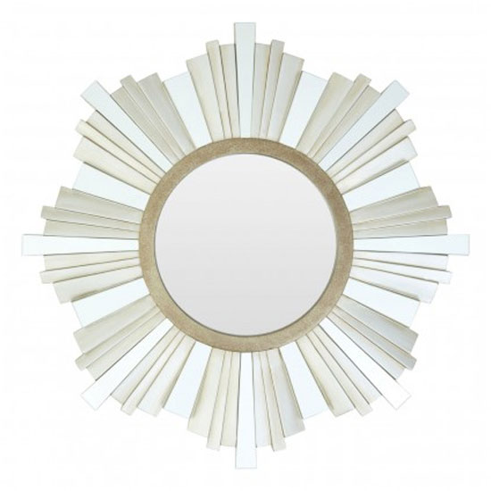 Sorel Strip Design Wall Mirror In Gold And Champagne Frame