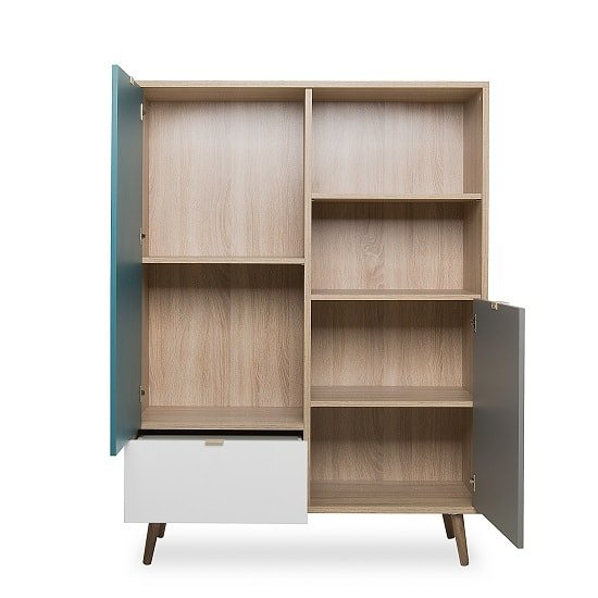 Sorio Highboard In Sonoma Oak And Tricolor With 2 Doors_2