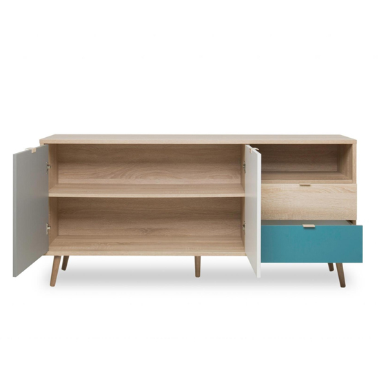 Sorio Sideboard In Sonoma Oak And Tricolor With 2 Doors 2 Drawer_4