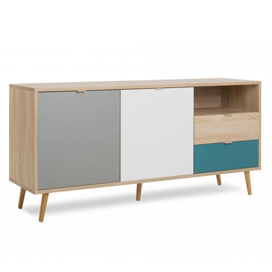 Sorio Sideboard In Sonoma Oak And Tricolor With 2 Doors 2 Drawer_2