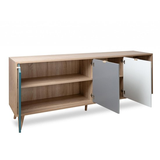 Sorio Sideboard In Sonoma Oak And Tricolor With 3 Doors 2 Drawer_3